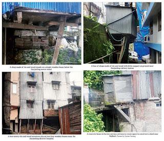 Pathetic building construction in Darjeeling Town