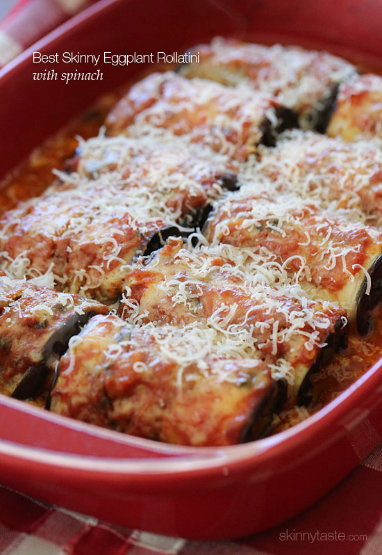 Best Skinny Eggplant Rollatini with Spinach | Skinnytaste