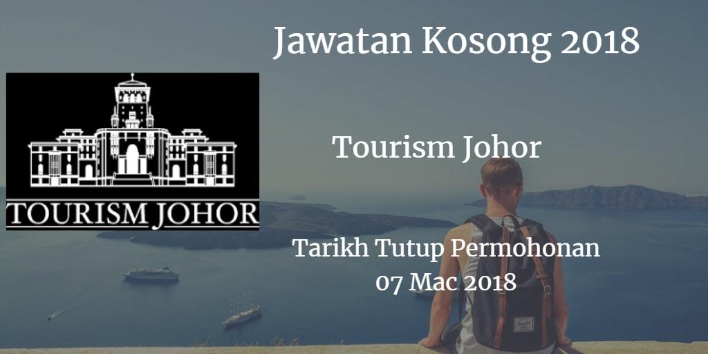 Jawatan Kosong Tourism Johor 07 Mac 2018