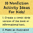 10 Nonfiction Activity Ideas for Kids