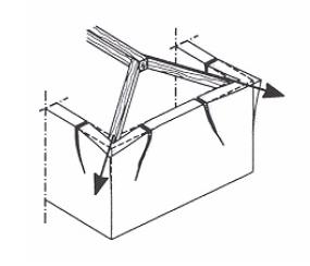 Le coperture spingenti ingegneria e dintorni for Inquadratura del tetto del padiglione