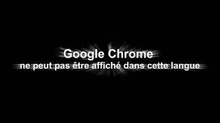 Google Chrome cannot be displayed in this language