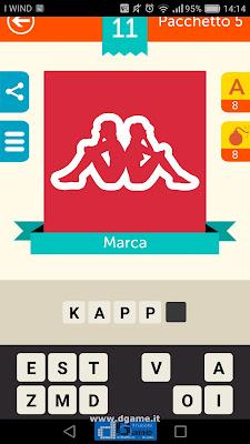 Iconica Italia Pop Logo Quiz soluzione pacchetto 5 livelli 11-75