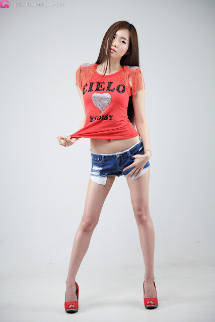 3 Lee Ji Min - Red Top-very cute asian girl-girlcute4u.blogspot.com