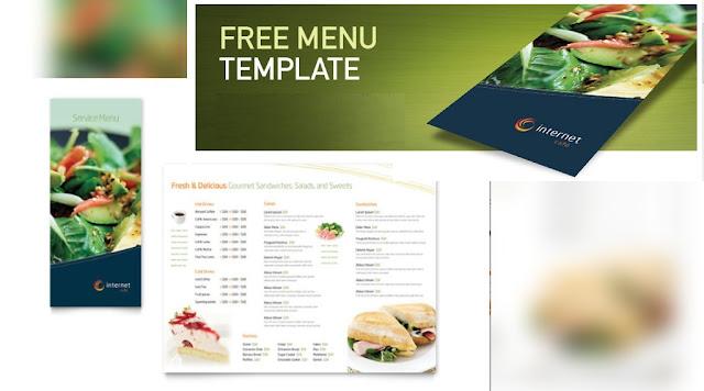 plantilla para menú de restaurante tipo broshure