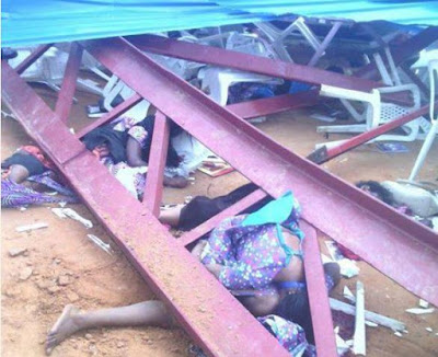 Many Dead At The Akwa Ibom Church Collapse Today (GRAPHIC PHOTOS)