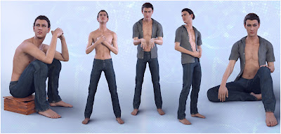 Z Justified - Poses for Elijah 7 Genesis 3 Male