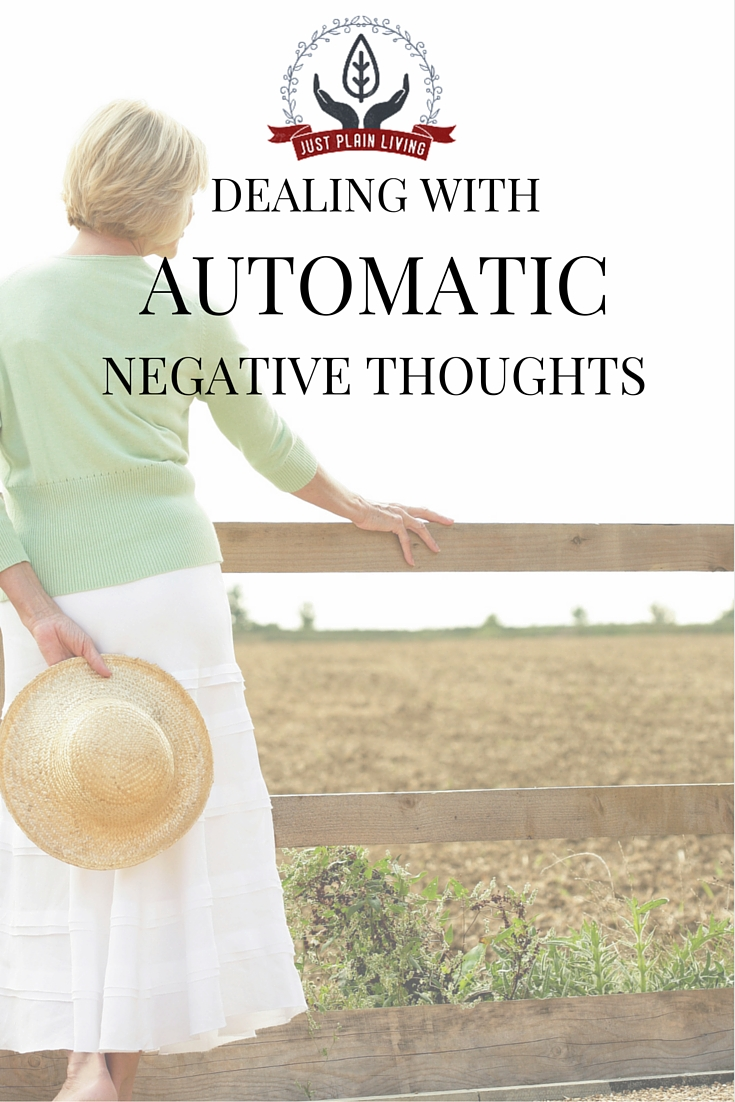 Automatic Negative Thoughts - they sneak up on us, but we can learn to stop them!