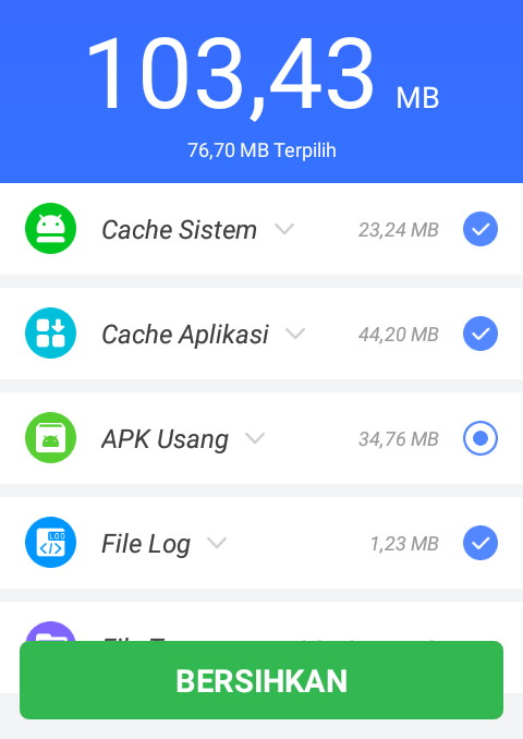 Cara clear cache di android