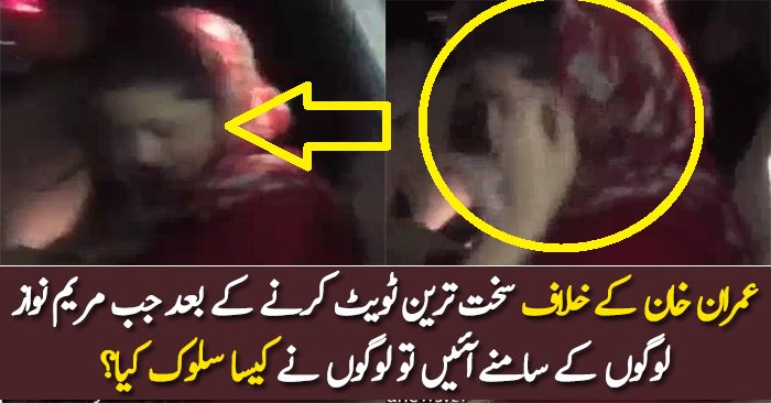What People Did With Maryam Nawaz After Tweet Against Imran Khan