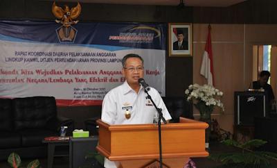 Realisasi Baru 63,98%, Pemprov Lampung Dorong Percepatan Penyerapan Anggaran Pusat