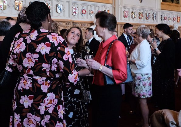 The Princess Royal, The Duke and Duchess of Gloucester also attended the reception