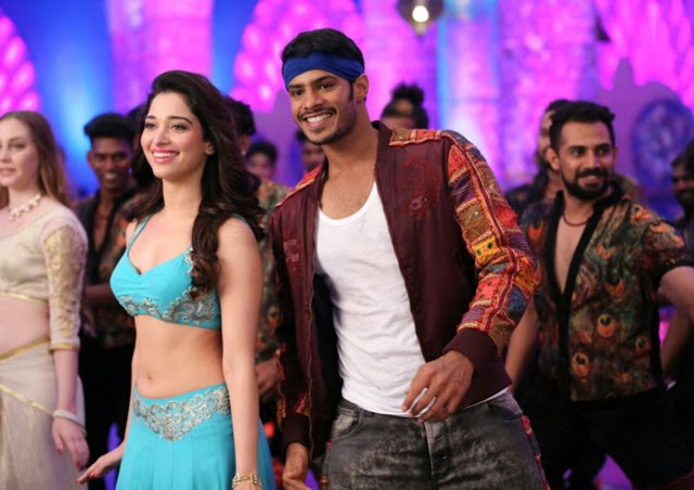 Tamanna Stills from Sampige Item Song in Jaguar Movie
