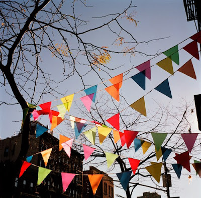 WINTER FLAGS (EAST VILLAGE, NEW YORK), BY YOUNGNA PARK