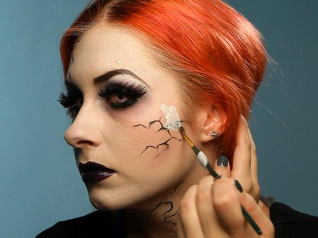 Dark Fairy Face Paint