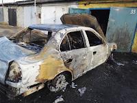 Менее чем 5 минут понадобилось огню чтобы уничтожить легковой автомобиль в селе Курьи