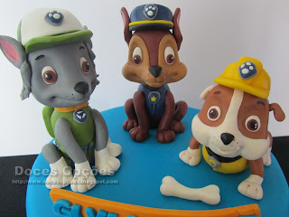 paw patrol sugar paste cake