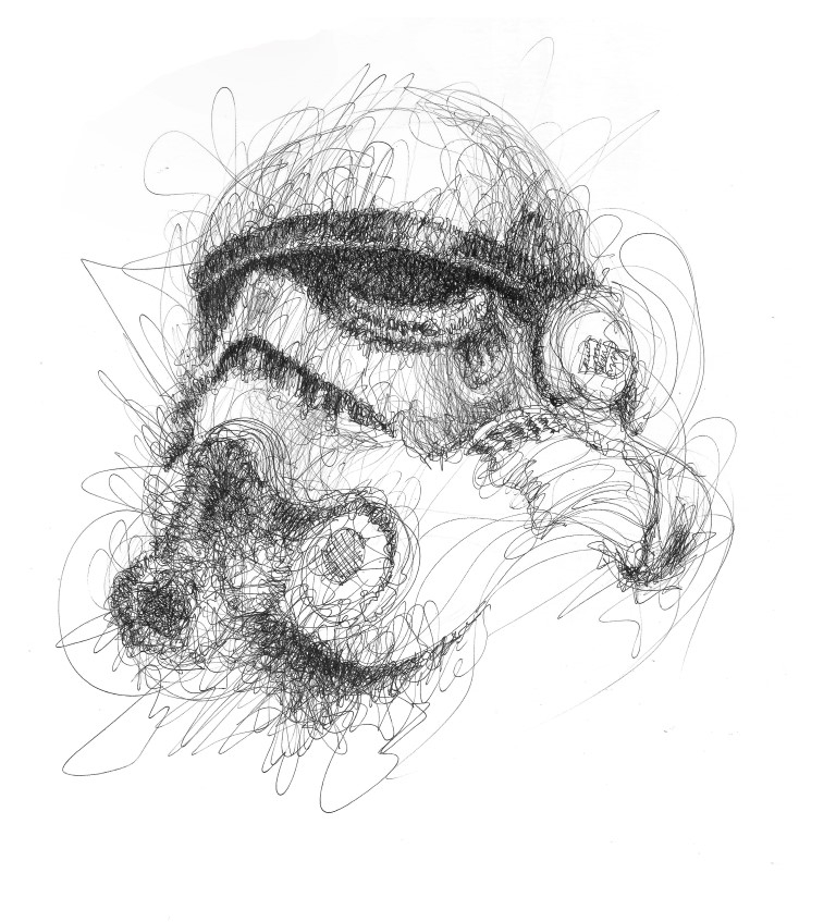 08-Stormtropper-Star-Wars-Erick-Centeno-Superheroes-Celebrities-and-Cartoons-Scribble-Drawings-www-designstack-co