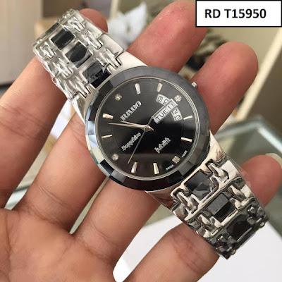 Đồng hồ nam dây inox trắng RD T15950