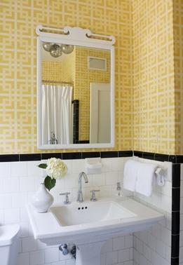 J'adore Decor: Black and Yellow Bathroom