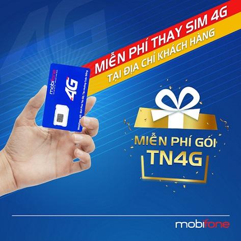 Thay sim 4G miễn phí, tặng ngay gói data thả ga lướt net cùng MobiFone