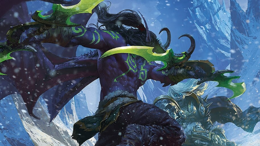 Illidan Stormrage Vs Lich King Wow 4k Wallpaper 4 372