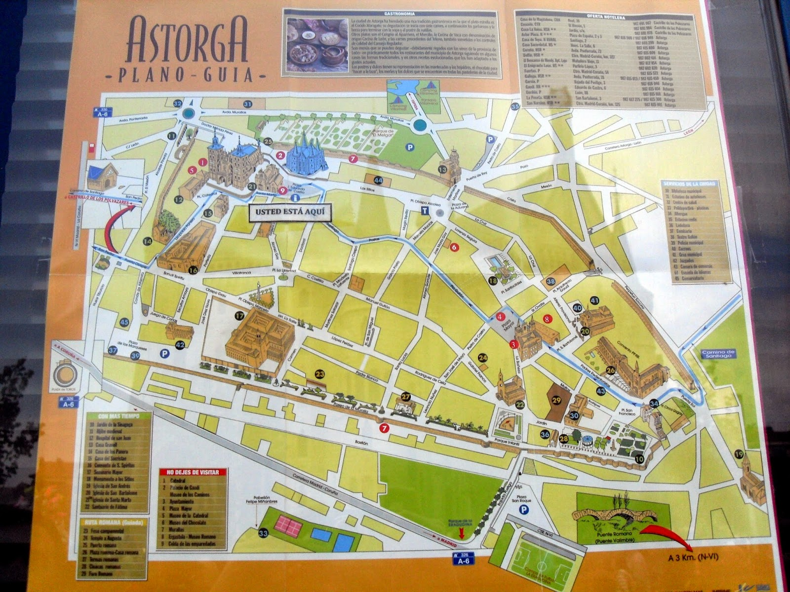 mapa turístico de Astorga