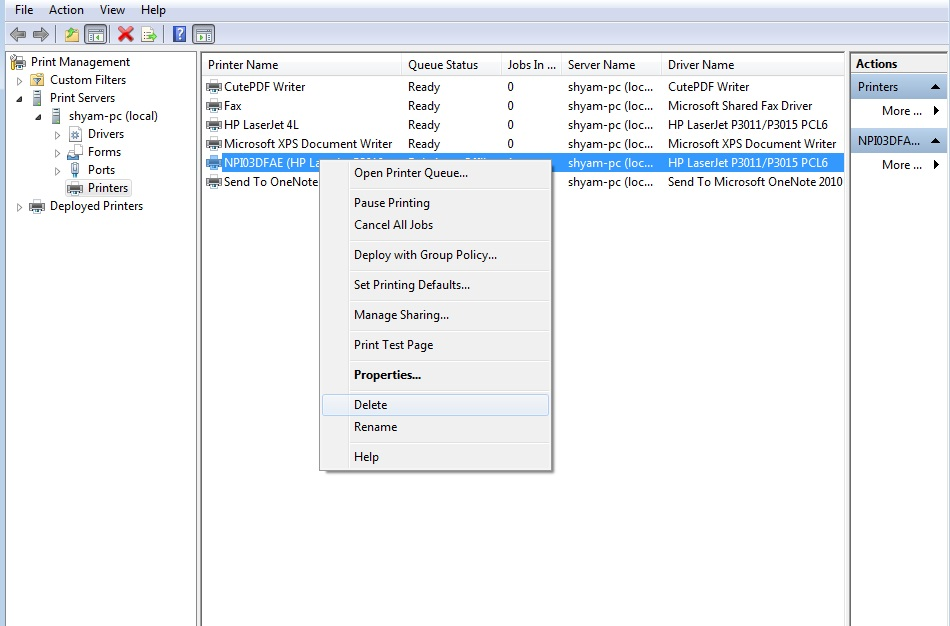 How To Completely Uninstall A Printer Driver Windows 7