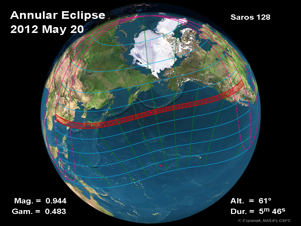 Annular Solar Eclipse May 2012 with Lunar Ring of Fire in California, LA