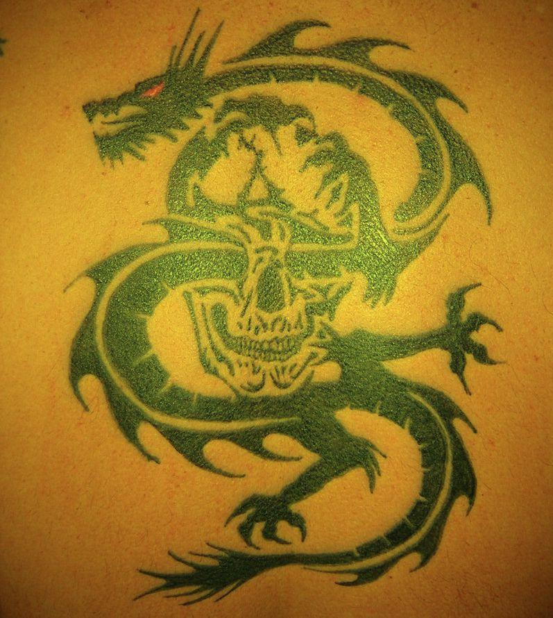 tattoo dragon: skull tattoo dragon