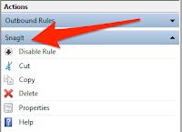 طريقة منع البرامج من الدخول إلى الأنترنت على الويندوز بدون برامج