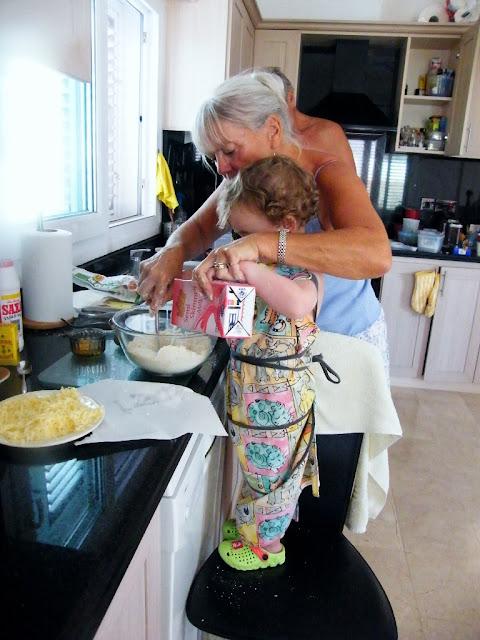 3. Add sufficient milk to make a soft dough.