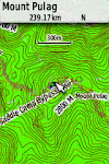 GPS Map Mount Pulag - Schadow1 Expeditions