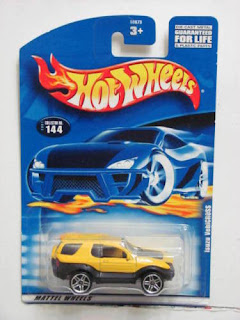 HOT WHEELS 2001 ISUZU VEHICROSS #144 YELLOW