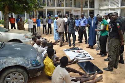 Photos: Kano Police parade armed robbery suspects who raped female victim in her home