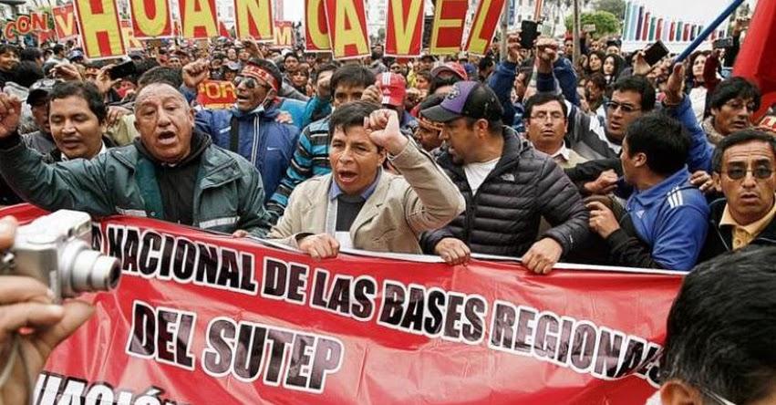 25 regiones del país se unirán a la huelga el Lunes 18 de Junio, según el FENASUTEP liderado por Pedro Castillo
