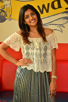 Eesha in a cute deep neck top and Skirt at at Big FM 072.JPG