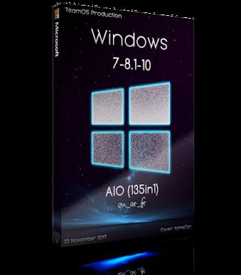 Windows 7-8.1-10 (x86-x64) Aio 135in1