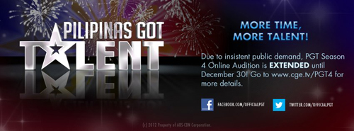 PGT Season 4 Online Audition is EXTENDED
