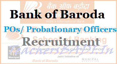 Bank of Baroda POs recruitment, BOB Probationary Officers Recruitment,poresults