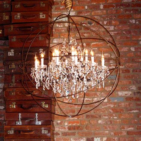 Metal Hanging Planter Light 2