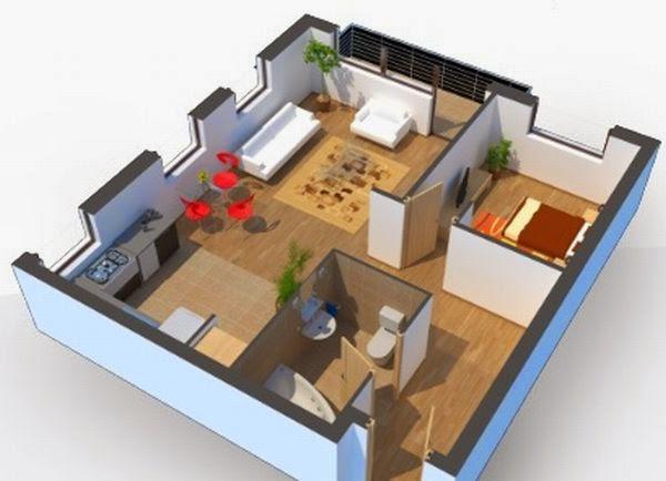 Denah Rumah Minimalis 3D Terbaru