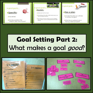 Goal setting for 4th grders, part 2, What Makes a Good Goal?