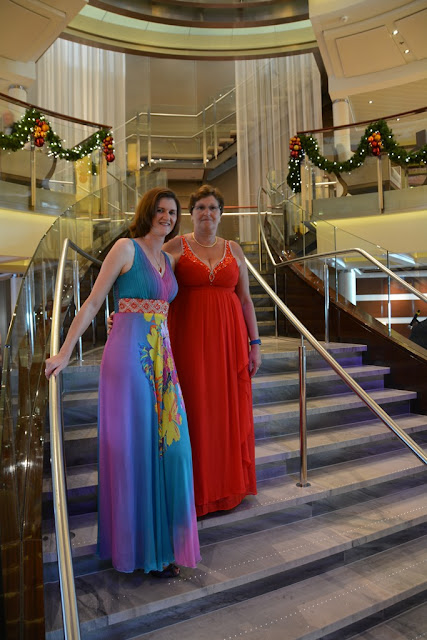 Celebrity Eclipse Formal Evening stairs