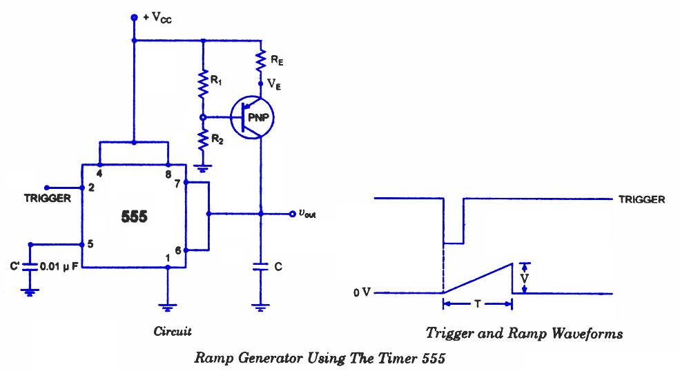 Build a Ramp Generator Circuit-using 555 Timer IC Diagram Digital