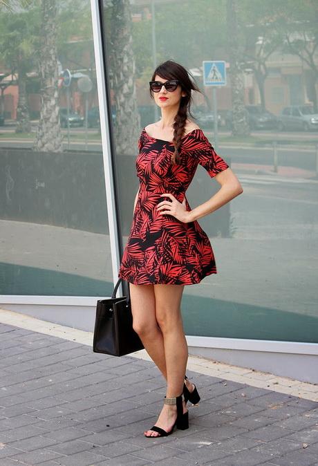 vestido de moda floreado