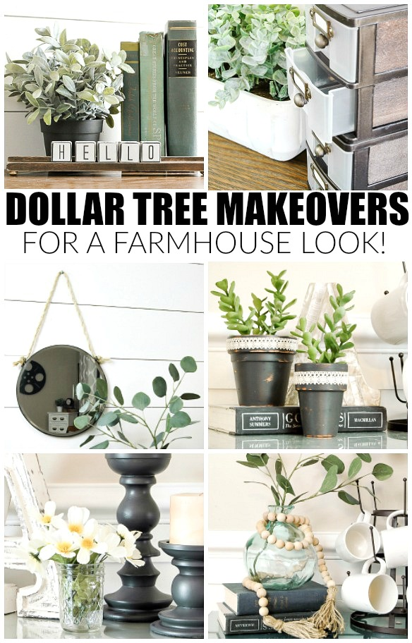 Amazing Dollar Tree farmhouse makeovers!
