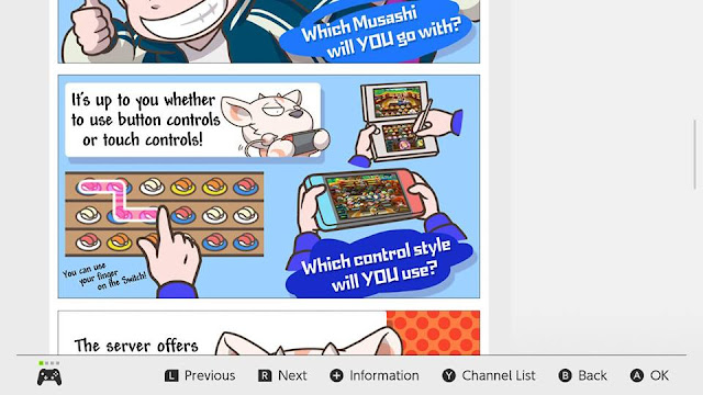 Sushi Striker The Way of Sushido button or touch controls comic Nintendo Switch