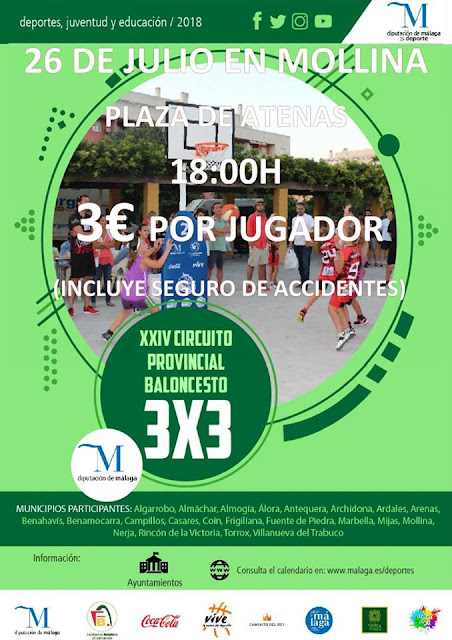 Circuito Provincial de Baloncesto 3X3 en Mollina