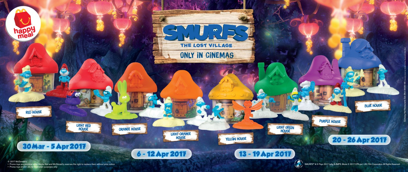 McDonald's Happy Meal Free Smurfs Toys Weekly Collections ...
